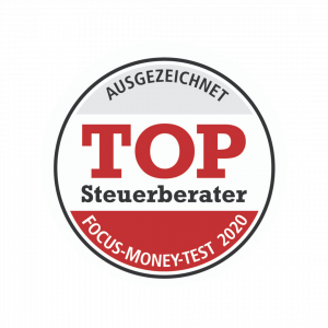 Auszeichung TOP Steuerberater 2020 Focus Money